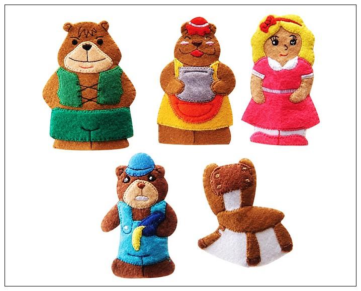 內頁放大:童話手指玩偶-三隻小熊(85折)絕版品