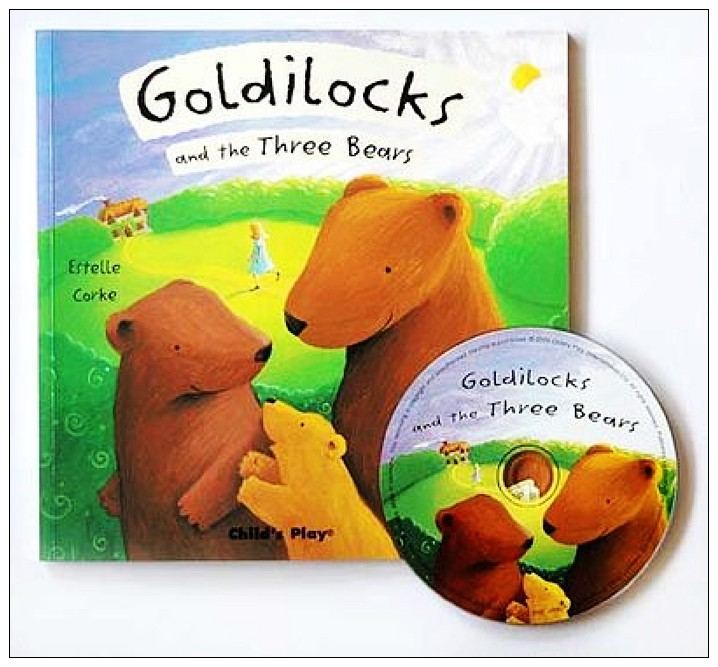 內頁放大:經典童話(翻翻書+CD):GOLDILOCKS AND THE THREE BEARS(三隻熊和金捲兒)(現貨數量:1)