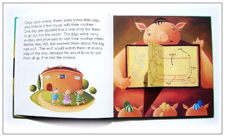 內頁放大:經典童話(翻翻書+CD):THREE LITTLE PIGS(三隻小豬)