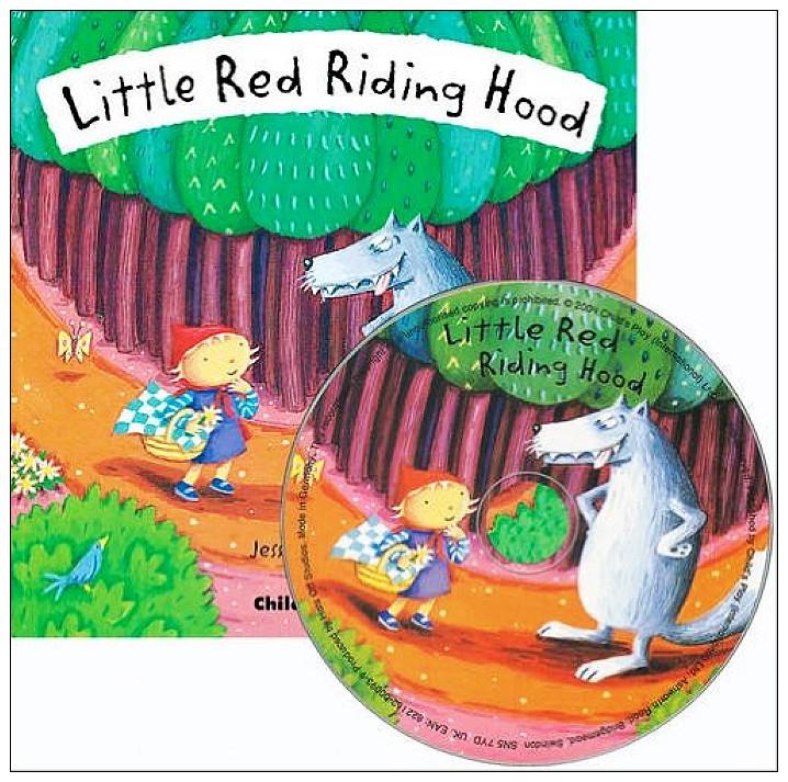 內頁放大:經典童話(翻翻書+CD):LITTLE RED RIDING HOOD(小紅帽)