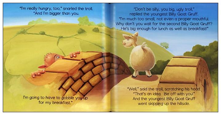 內頁放大:經典童話(翻翻書+CD):THREE BILLY GOATS GRUFF(三隻山羊)