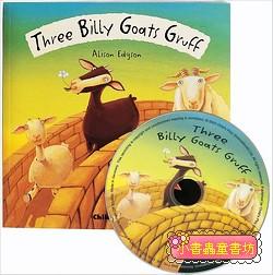 經典童話(翻翻書+CD):THREE BILLY GOATS GRUFF(三隻山羊)