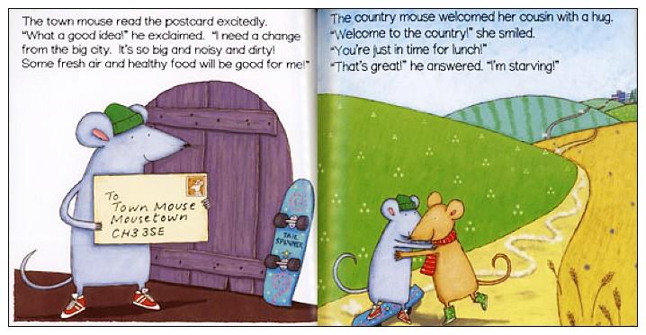 內頁放大:經典童話(翻翻書+CD):TOWN MOUSE, COUNTRY MOUSE(城市老鼠和鄉下老鼠)