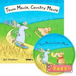 經典童話(翻翻書+CD):TOWN MOUSE, COUNTRY MOUSE(城市老鼠和鄉下老鼠)