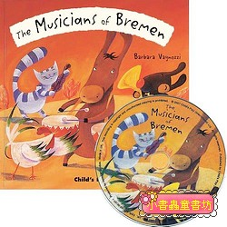 經典童話(翻翻書+CD):THE MUSICIANS OF BREMEN(布萊梅樂隊)