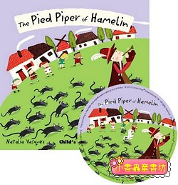 經典童話(翻翻書+CD):THE PIED PIPER OF HAMELIN(吹笛人)