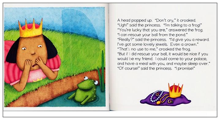 內頁放大:經典童話(翻翻書+CD):THE FROG PRINCE(青蛙王子)