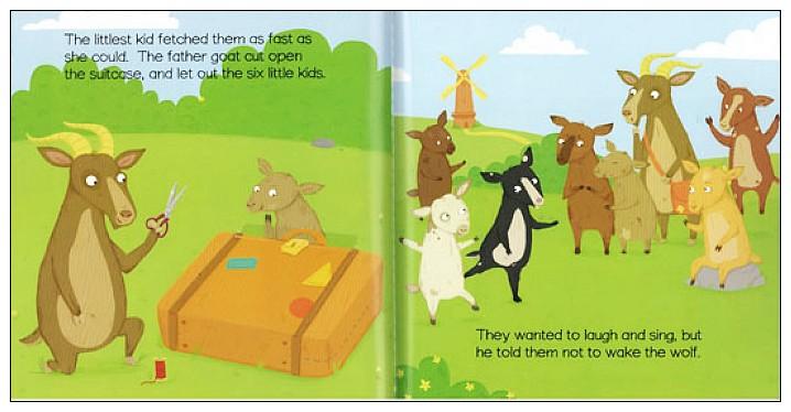 內頁放大:經典童話(翻翻書+CD):THE WOLF AND THE SEVEN KIDS(七隻小羊)