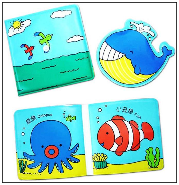 內頁放大:鯨魚愛噴水(雙語噴水洗澡書)(79折)絕版書
