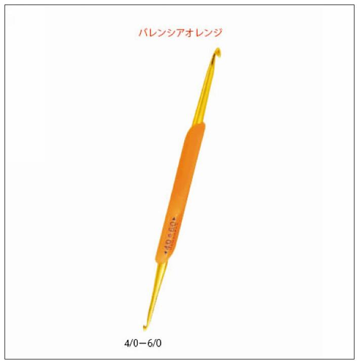 內頁放大:Hamanaka樂樂雙頭鉤針4/0-6/0 (橘)