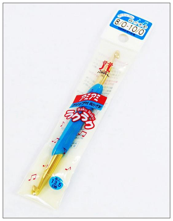 內頁放大:Hamanaka樂樂雙頭鉤針8/0-10/0 (藍)