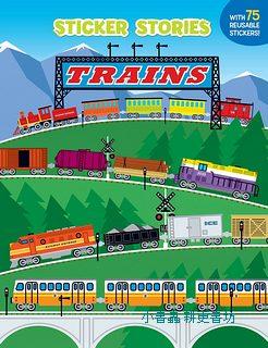進口貼紙遊戲書-TRAINS