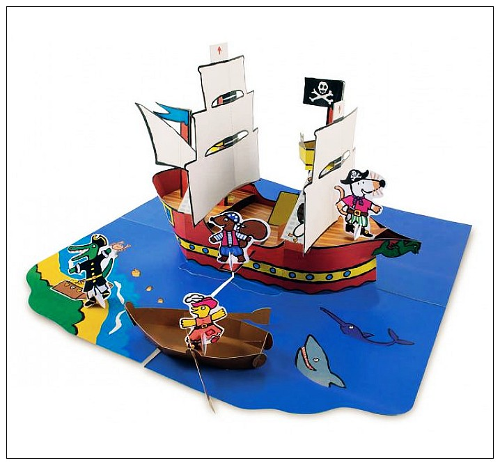 內頁放大:小鼠波波:Maisy's Pirate Ship: A Pop-up-and-Play Book
