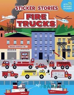 進口貼紙遊戲書-FIRE TRUCKS