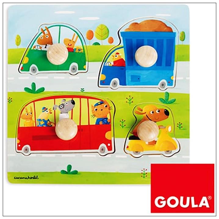 內頁放大:西班牙寶寶握鈕拼圖─交通工具(單片)(9折)