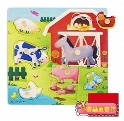 西班牙寶寶握鈕拼圖─媽咪與寶貝農場拼圖組