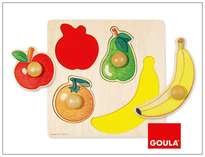 內頁放大:西班牙寶寶握鈕拼圖─水果拼圖(單片)