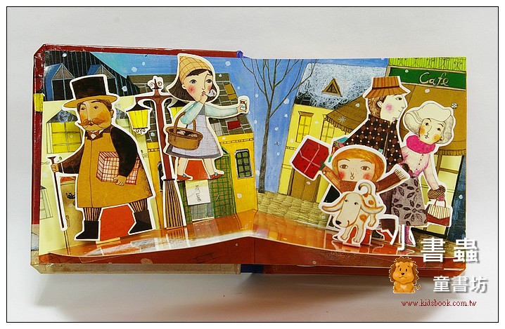 內頁放大:世界童話立體書:賣火柴的女孩 (79折)