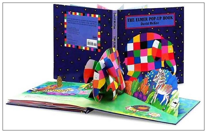 內頁放大:THE ELMER POP-UP BOOK (大象艾瑪) 立體書