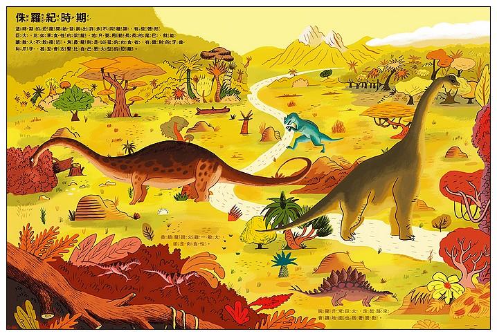 內頁放大:我的恐龍磁貼遊戲書 (79折)