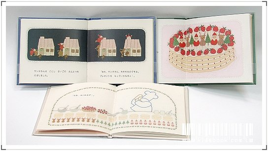 內頁放大:長尾玲子:口袋聖誕小書(日文版,附中文翻譯)