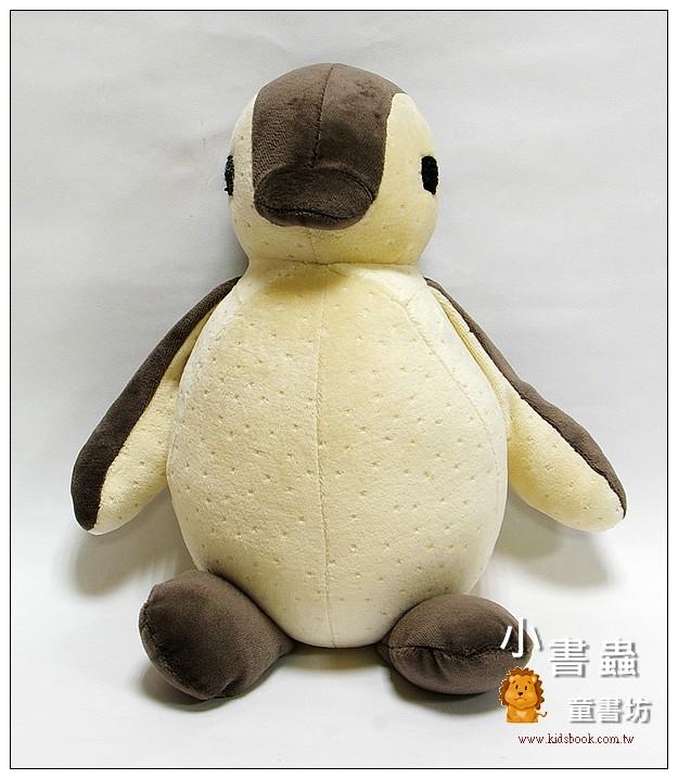 內頁放大:手工綿柔音樂布偶:胖胖企鵝 (灰黑、米黃) (台灣製造)