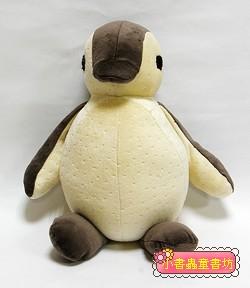 手工綿柔音樂布偶:胖胖企鵝 (灰黑、米黃) (台灣製造)