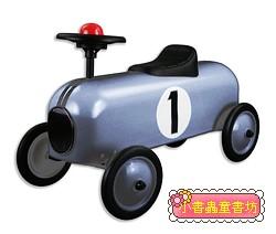 幼兒4輪滑步車:賽車(銀色)