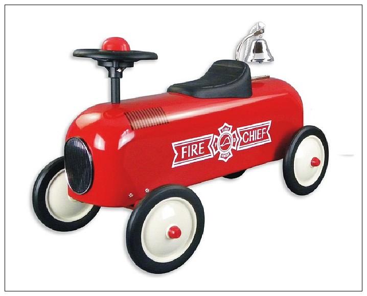 內頁放大:幼兒4輪滑步車:消防車(紅色)