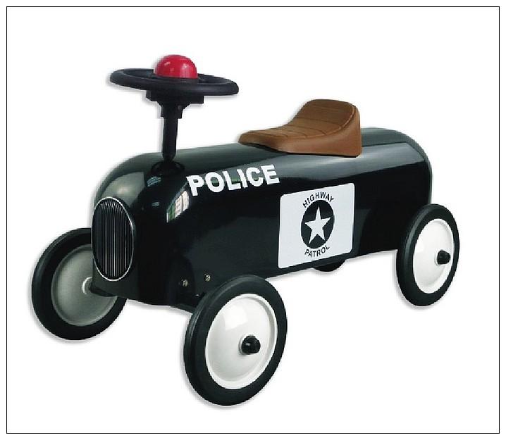 內頁放大:幼兒4輪滑步車:警車(黑色)
