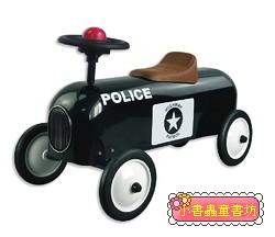 幼兒4輪滑步車:警車(黑色)