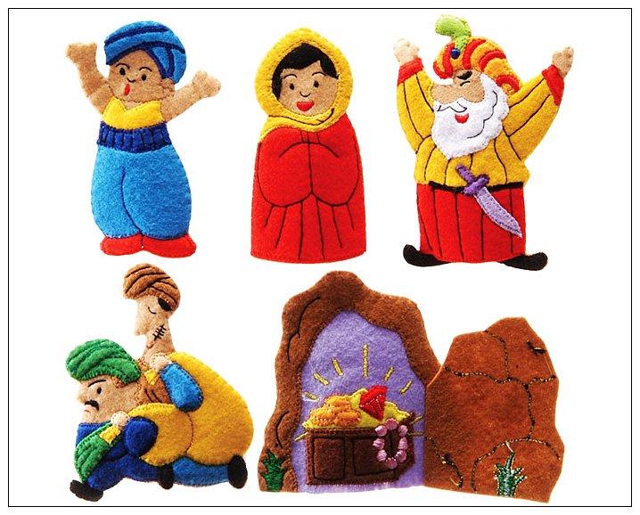 內頁放大:童話手指玩偶-阿里巴巴和四十大盜 絕版品 可訂數量:1