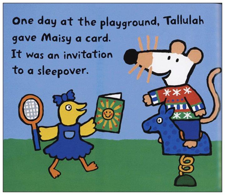 內頁放大:小鼠波波繪本故事:Maisy Goes on a Sleepover(波波到朋友家過夜)(平裝)