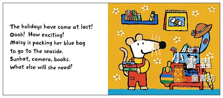 內頁放大:小鼠波波繪本故事:Maisy Goes on Holiday (現貨數量:1)(波波去度假) (平裝)