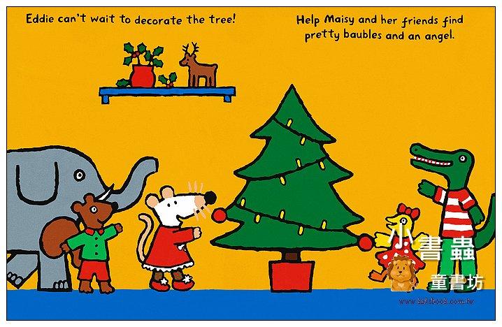 內頁放大:小鼠波波貼紙書:Maisy's Christmas sticker book(波波的聖誕節貼紙書)(平裝)