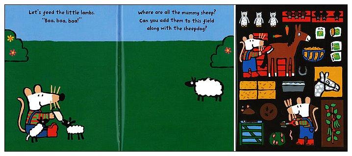 內頁放大:小鼠波波貼紙書:Maisy,s Farm sticker book(波波的農場貼紙書)(平裝)