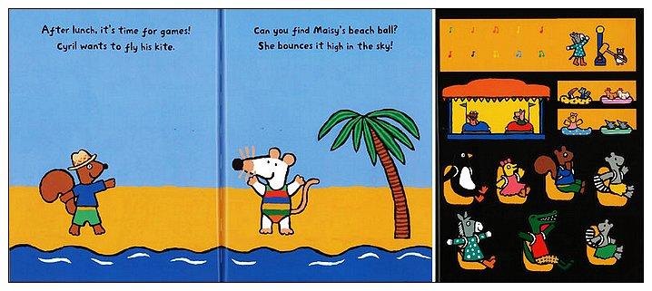 內頁放大:小鼠波波貼紙書:Maisy's at the seaside sticker book(波波去海邊貼紙書)(平裝)
