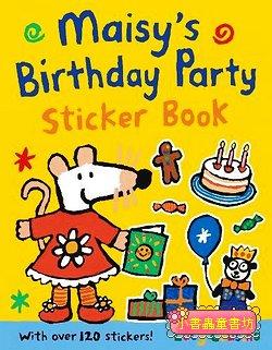 小鼠波波貼紙書:Maisy's birthday party sticker book(波波的生日派對貼紙書) (平裝)