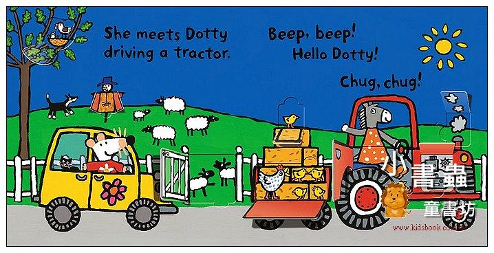 內頁放大:小鼠波波翻翻書(硬頁):Beep, Beep, Maisy!