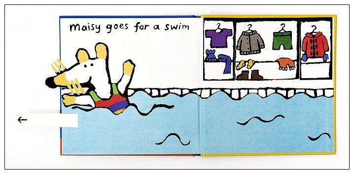 內頁放大:小鼠波波翻拉書:Maisy goes Swimming