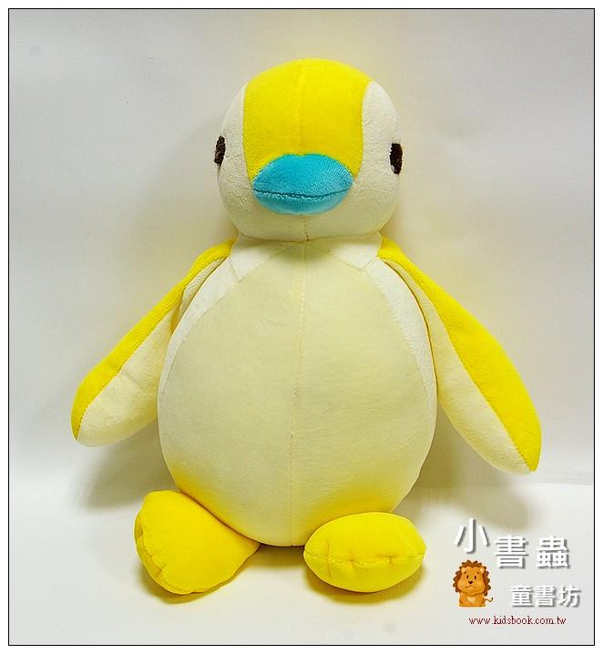 內頁放大:手工綿柔音樂布偶:胖胖企鵝 (黃、米黃) (台灣製造) 可訂量:1