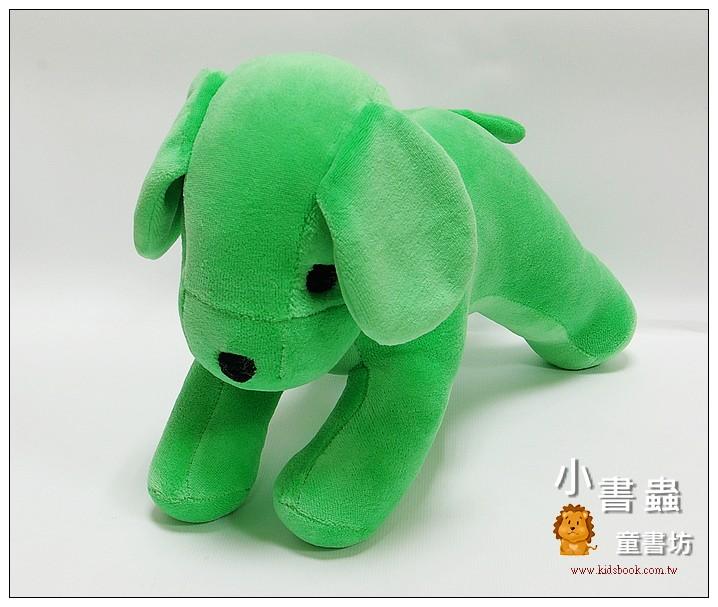 內頁放大:手工綿柔音樂布偶:小狗 (清新綠) (台灣製造)