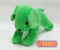 手工綿柔音樂布偶:小狗 (清新綠) (台灣製造)