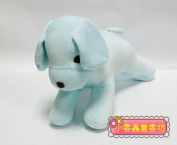 手工綿柔音樂布偶:小狗 (水藍) (台灣製造)