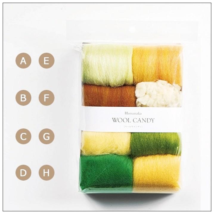 內頁放大:8色羊毛條組合包-2 (葉綠色系)