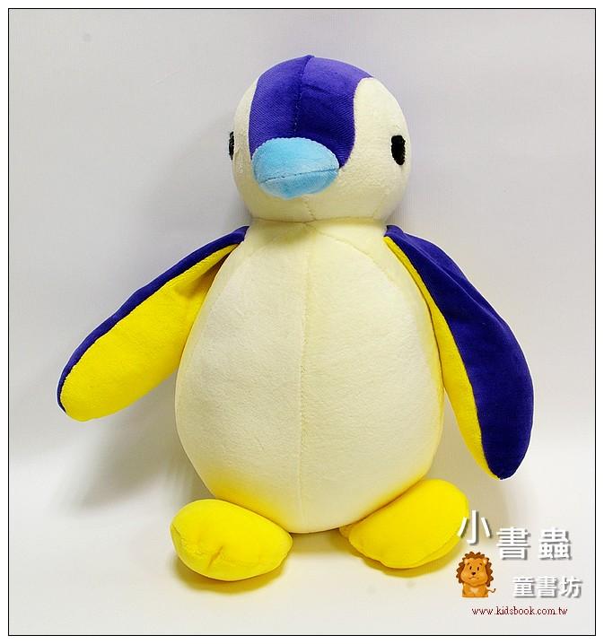 內頁放大:手工綿柔音樂布偶:胖胖企鵝 (紫、黃) (台灣製造)