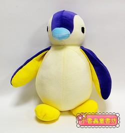 手工綿柔音樂布偶:胖胖企鵝 (紫、黃) (台灣製造)