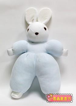 手工綿柔音樂布偶:兔子(水藍)(台灣製造)