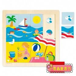 西班牙寶寶拼圖–木製夏天配對拼圖 (16片)
