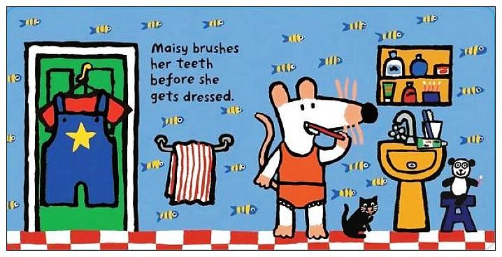 內頁放大:小鼠波波翻翻書(硬頁):Maisy,s House